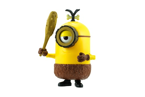 Bangkok,Thailand - May 17, 2015: Cro-Minion fictional character from Minions animated 3D film produced by Illumination Entertainment for Universal Pictures.